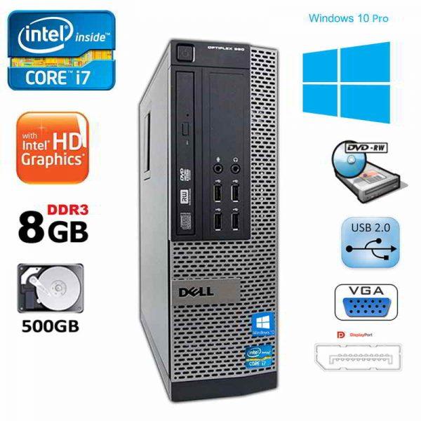 Dell Optiplex 990 SFF Intel i7 8GB RAM