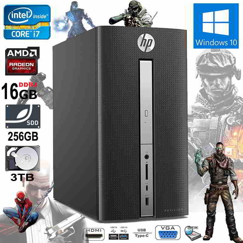 New HP Pavilion 570-P088NA Intel i7 16GB RAM 256GB SSD 3TB HDD 2e89e89fbf94