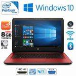 HP Pavilion 14-AM078NA Intel Quad Core 8GB RAM 2TB HDD Red