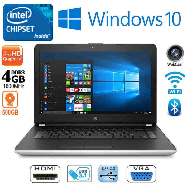 Hp 14-BS043NA Intel Dual-Core 4GB RAM 500GB HDD