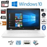 HP Notebook 17-AK019NA AMD DualCore 4GB DDR4 500GB HDD White