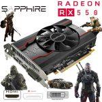 Sapphire AMD Radeon RX550 PULSE 4GB GDDR5 DP HDMI DVI-D Graphic Card