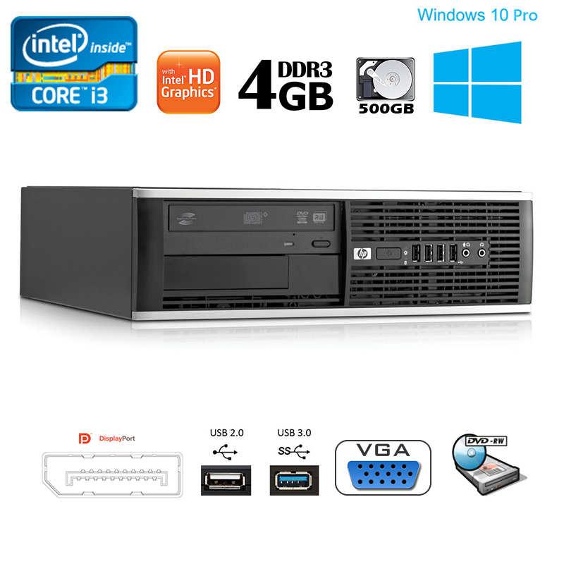 HP Compaq Pro 6300 SFF Intel i3 3 30GHz 4GB RAM 500GB HDD DVDRW Win10