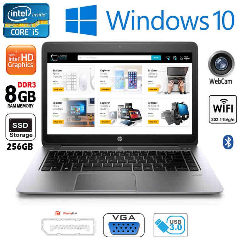HP Folio 1040 G2 Intel i7 8GB RAM 256GB SSD 14 0