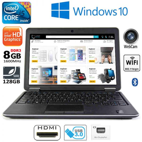 Slim Dell Latitude E7440 Intel i5 8GB DDR3 128GB SSD HDMI Full HD Win10