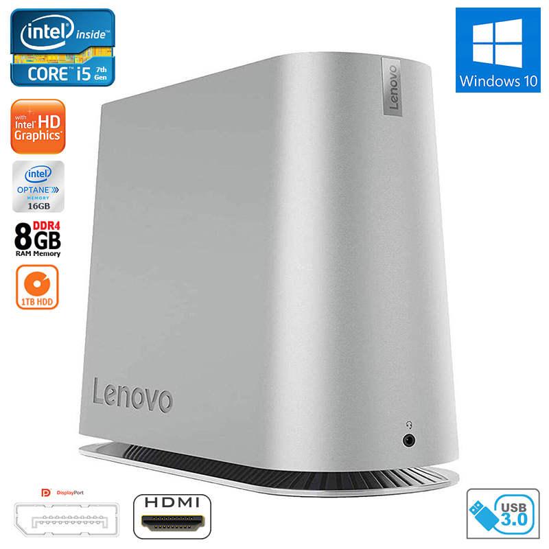 New Lenovo 620S Core i5-7400T Quad-Core 8GB RAM 16GB Optane 1TB HDD Small  PC Desktop HDMI