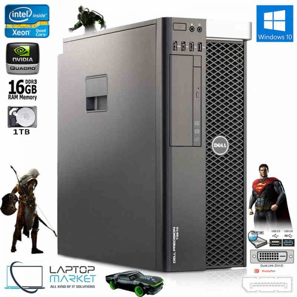 Dell Precision T3610 Fast Intel Xeon QuadCore 16GB RAM 1TB HDD Nvidia Quadro