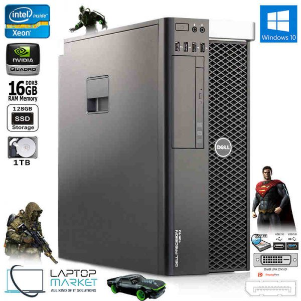 Gaming Dell Precision T3610 Fast Intel Xeon Quad Core 16GB RAM Nvidia Quadro