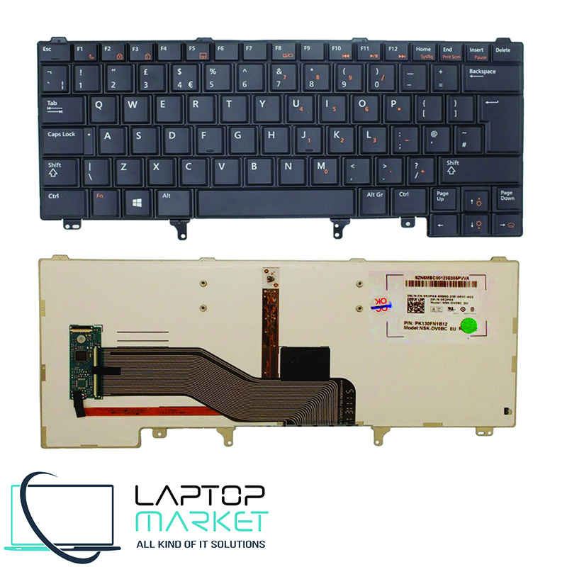 New UK Keyboard 52PX4 F105 For Dell Latitude Series With Trackpoint