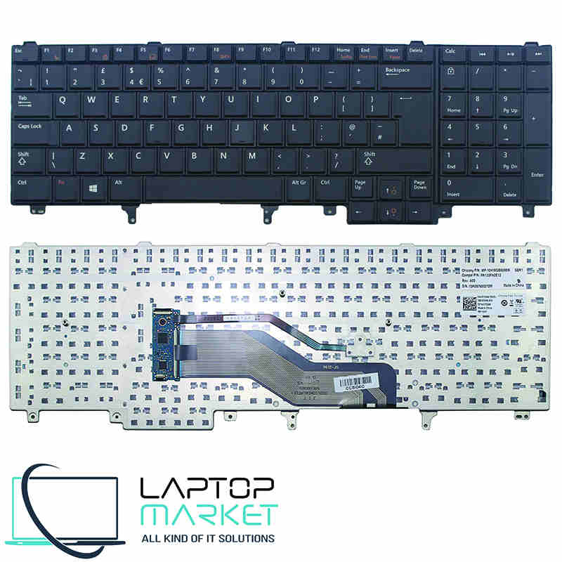 New Keyboard 7C546 7T433 For Dell Latitude Precision Series UK Layout