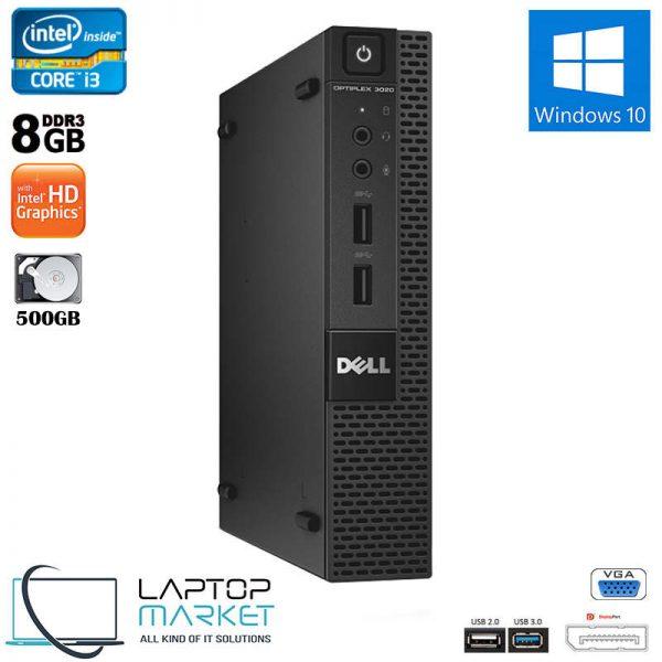Dell Optiplex 3020 Micro, Ultra Small Form Factor PC, Intel Core i3 Processor, 8GB RAM Memory, 500GB Hard Drive Disk, Intel HD Graphics, VGA Port, Display Port, 6x USB Ports, Windows 10 Pro