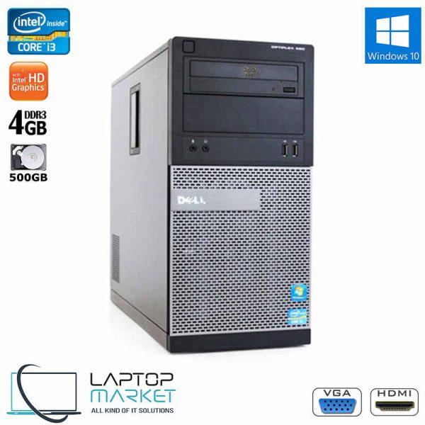 Dell Optiplex 390, Tower PC, Intel® Core™ i3 Processor, 4GB RAM Memory, 500GB Hard Drive Disk, Intel HD Graphics, DVD, VGA Port, HDMI, Windows 10 Pro