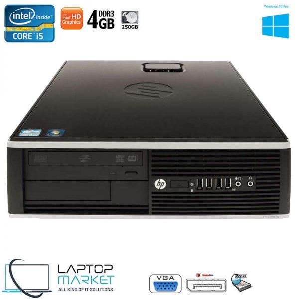 HP Compaq 8100 Elite, Small Form Factor PC, Intel® Core™ i5 Processor, 4GB RAM Memory, 250GB Hard Drive Disk, Intel HD Graphics, DVD-RW, VGA Port, Serial Port, Display Port, 10x USB Ports, Windows 10 Pro