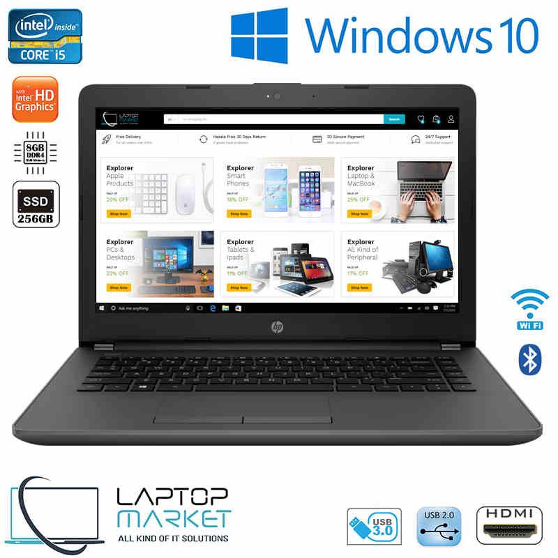 New HP 240 G6 7th Gen Intel i5 8GB DDR4 256GB SSD HDMI Win10