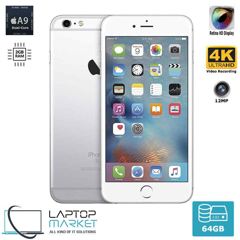 Unlocked Apple iPhone 6s 64GB 2GB RAM 12MP Camera Wifi LTE Silver