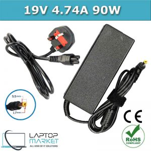 New PA-1900-04 Laptop Charger Adapter 19V 4.74A 90W With 5.5mm x 1.7mm Pin For Acer Aspire Extensa TravelMate eMachines Gateway Easynote