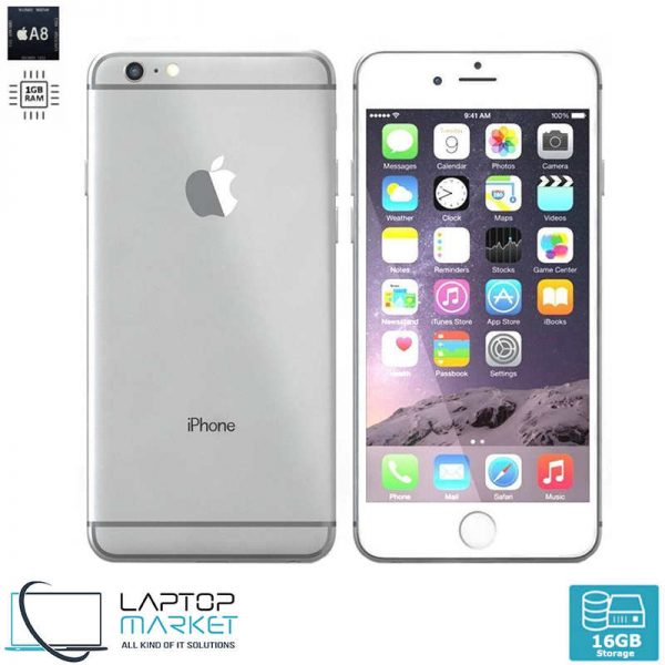 Apple iPhone 6 16GB Silver, 1GB RAM, Apple A8 Chip with Dual-Core Processor, 8MP Camera