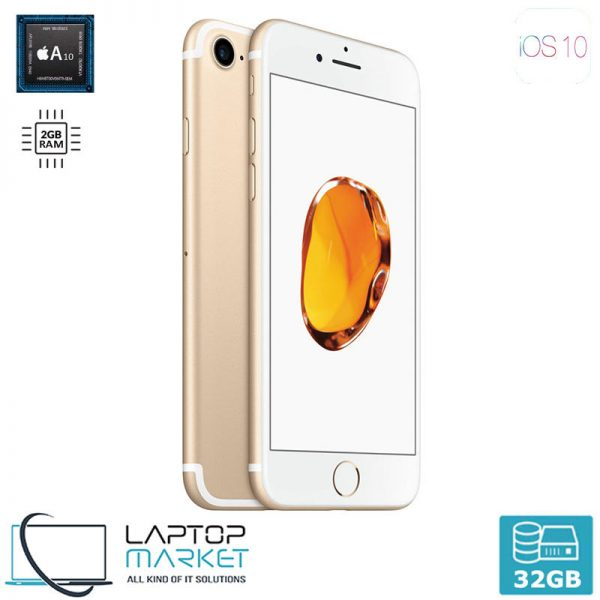 Apple iPhone 7 32GB Gold, 2GB RAM, Apple A10 Fusion Chip with Quad-Core Processor, 12MP Camera