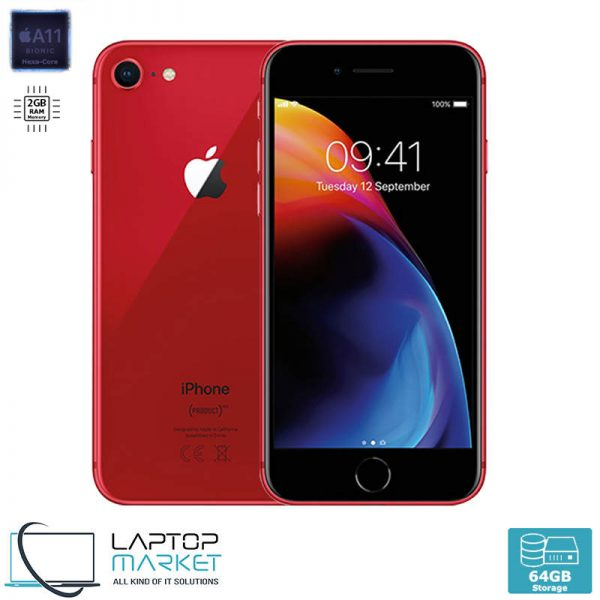 Apple iPhone 8 64GB Red, 2GB RAM, Apple A11 Bionic Chip with Hexa-Core Processor, 12MP Camera