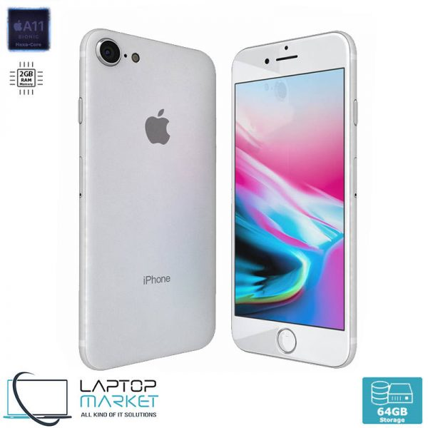 Apple iPhone 8 64GB Silver, 2GB RAM, Apple A11 Bionic Chip with Hexa-Core Processor