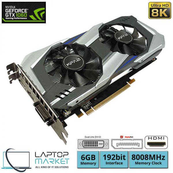 Gaming Graphic Card KFA2 GeForce GTX 1060 OC, 6GB GDDR5, 8008MHz Memory Clock, 192bit Interface, Display Port, HDMI, DVI