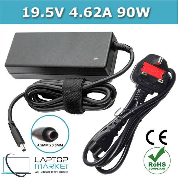 Laptop Battery Charger 0RT74M 0VRJN1 227372-134 6H22T 19.5V 4.62A 90W 4.5mm x 3.0mm For Dell Inspiron Vostro Latitude Series