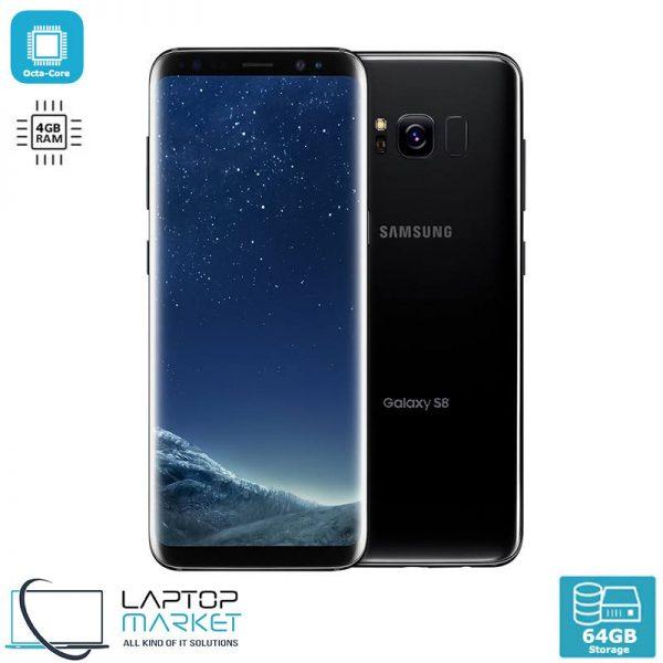 "Samsung Galaxy S8, Black 5.8"" Smartphone, Octa-Core Processor, 4GB RAM, 64GB Storage, 12MP Camera"
