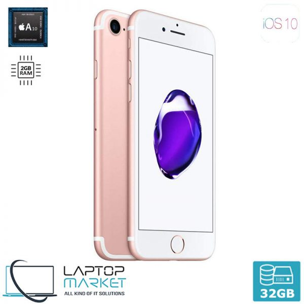 Apple iPhone 7 32GB Rose Gold, 2GB RAM, Apple A10 Fusion Chip with Quad-Core Processor