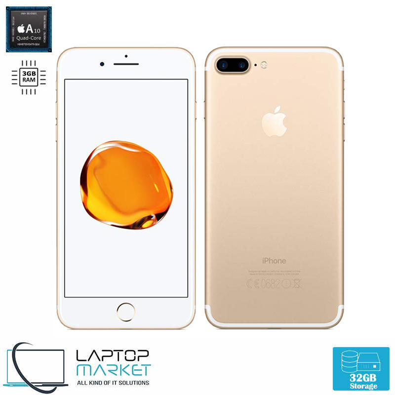 Apple iPhone 7 Plus 32GB Gold Quad Core 3GB RAM 12MP Unlocked