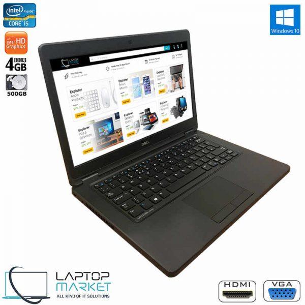 """Dell Latitude E5450, 14"""" HD Black laptop, Intel® Core i5 Processor, 4GB RAM Memory, 500GB Hard Drive Disk"""