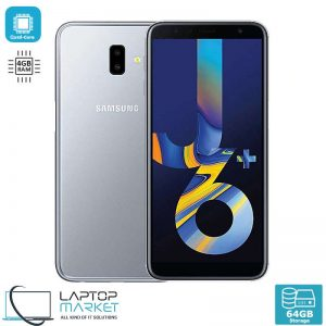 Brand New Boxed Samsung Galaxy J6+, Grey Smartphone, Quad-Core Processor, 4GB RAM, 64GB Storage, 13MP Camera