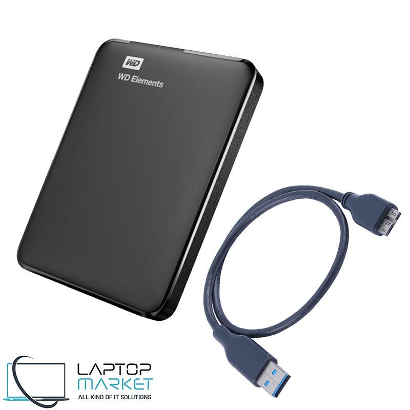 New External HDD WD Elements 1TB 1000GB Portable Hard ...