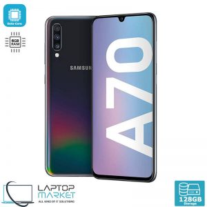 Samsung Galaxy A70 SM-A705MN/DS, Black Smartphone, Unlocked Dual SIM, Octa-Core Processor, 6GB RAM Memory, 128GB Storage