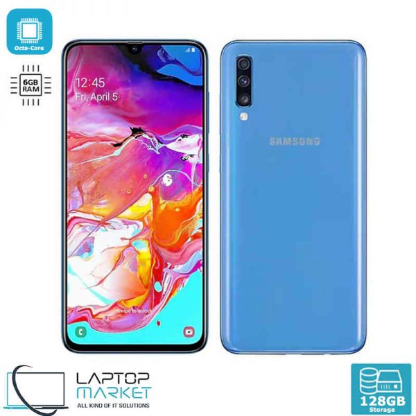 Brand New Boxed Samsung Galaxy A70 SM-A705MN/DS, Blue Smartphone, Unlocked Dual SIM, Octa-Core Processor, 6GB RAM Memory, 128GB Storage