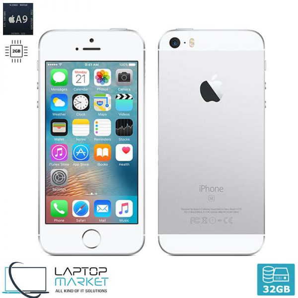 Apple iPhone SE 32GB Silver, 2GB RAM, Apple A9 Fusion Chip with Dual-Core Processor, 12MP Camera, WiFi, LTE, Bluetooth
