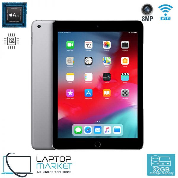 Brand New iPad 6th Gen. 32GB with Pencil Support, Space Grey Tablet, 64Bit A10 FusionChip, 2GB RAM Memory