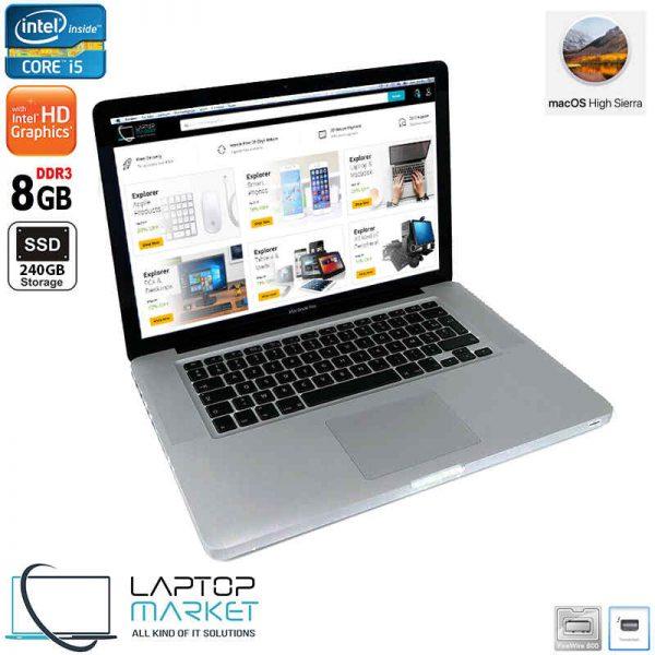 "Apple MacBook Pro A1278 2011, 13.3"" Silver Laptop, Intel® Core i5 Processor, 8GB RAM Memory, 240GB Solid State Drive"