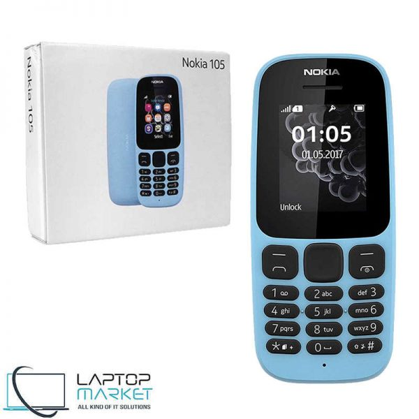 Brand New Boxed Nokia 105 Blue, GSM Dual-SIM Cellular Phone, Flashlight, 65K Colors