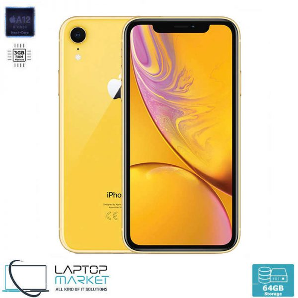 Brand New Apple iPhone XR 64GB Yellow, 3GB RAM, Apple A12 Bionic Chip with Hexa-Core Processor, 12MP Camera