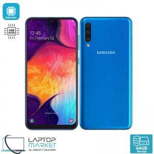 Brand New Boxed Samsung Galaxy A50 SM-A505F, Blue Smartphone, Octa-Core Processor, 6GB RAM, 64GB Storage, Triple 25MP Camera