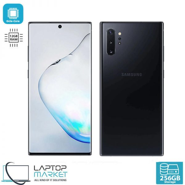 Brand New Sealed Samsung Galaxy Note10 Plus, Aura Black Smartphone, Octa-Core Processor, 12GB RAM, 256GB Storage, 12MP Quad Camera, LED Flash, Corning Gorilla Glass 6
