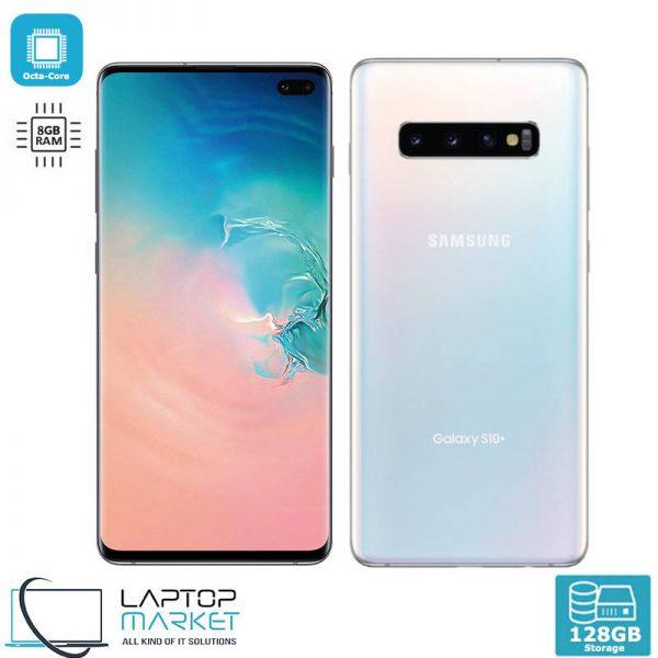 Brand New Boxed Samsung Galaxy S10 Plus, Prism White Smartphone, Octa-Core Processor, 8GB RAM, 128GB Storage, Triple 16MP Camera