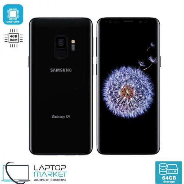 "Samsung Galaxy S9, 5.8"" Black Smartphone, Octa-Core Processor, 4GB RAM, 64GB Storage, 12MP Camera"