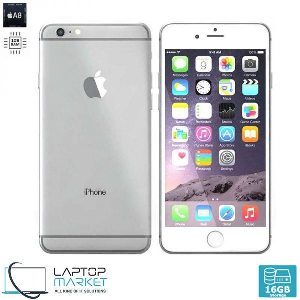 Apple iPhone 6 16GB Silver, 1GB RAM, Apple A8 Chip with Dual-Core Processor, 8MP Camera, 4K Video Recording