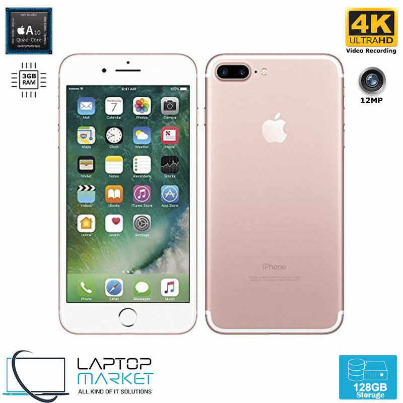 iPhone 7 Plus 128GB Rose Gold Quad Core 3GB RAM 12MP Premium