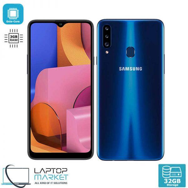 Brand New Boxed Samsung Galaxy A20s SM-A207FZKDI/DS, Blue Smartphone, Octa-Core Processor, 3GB RAM, 32GB Storage, Triple 13MP Camera