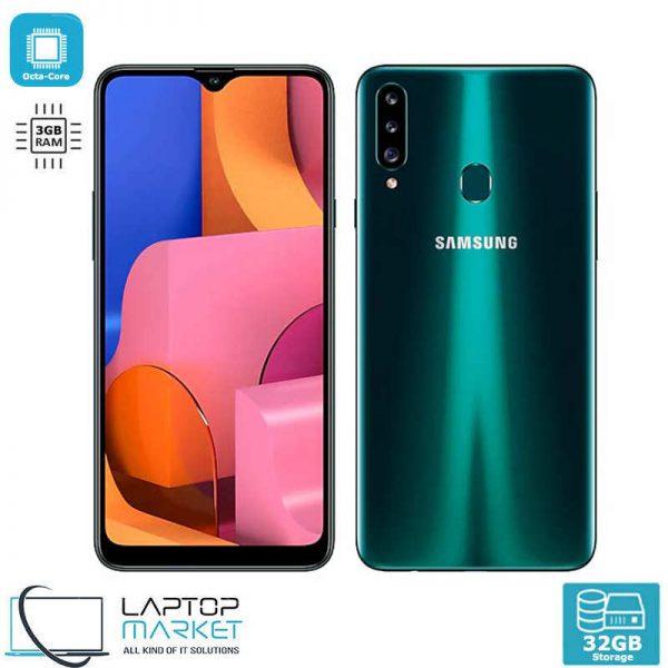 Brand New Boxed Samsung Galaxy A20s SM-A207FZKDI/DS, Green Smartphone, Octa-Core Processor, 3GB RAM, 32GB Storage, Triple 13MP Camera