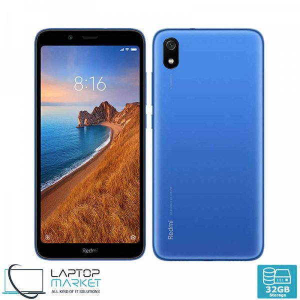 Brand New Boxed Xiaomi Redmi 7A, Gem Blue Smartphone, Octa-Core Processor, 2GB RAM, 32GB Storage, 12MP Camera