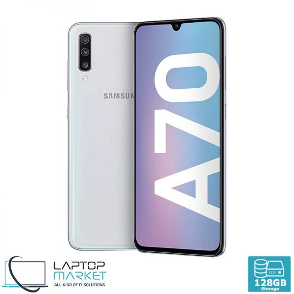 Brand New Boxed Samsung Galaxy A70 SM-A705MN/DS, White Smartphone, Unlocked Dual SIM, Octa-Core Processor, 6GB RAM Memory, 128GB Storage, Triple 32MP Camera