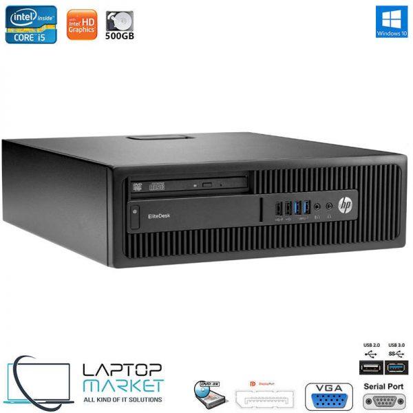 HP EliteDesk 800 G1 SFF, Small Form Factor Desktop PC, Intel Core i5 Processor, 8GB RAM Memory, 500GB Hard Drive Disk